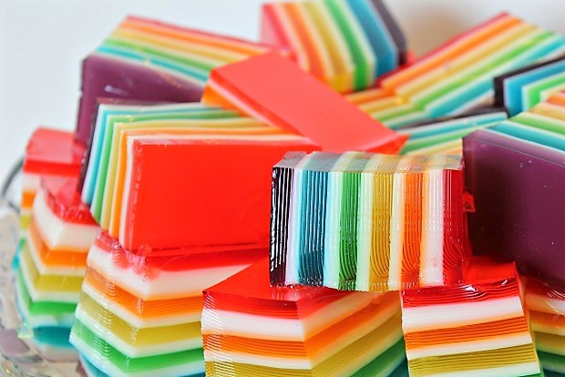colorful jello