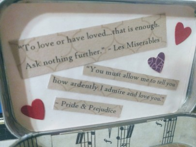 Quotes from Les Miserables and Pride & Prejudice.