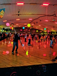A fun rollerskating party in September -- thanks to Mo's orthodontist group